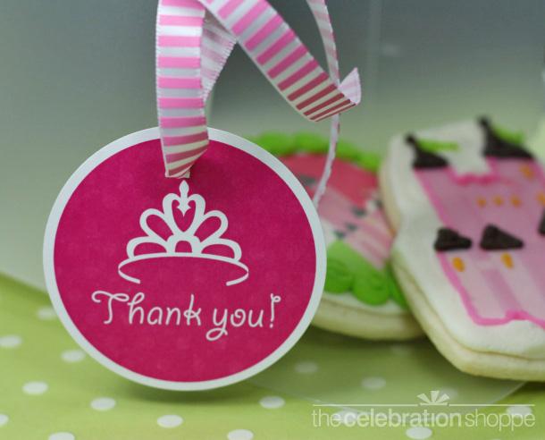 Princess crown thank you tags