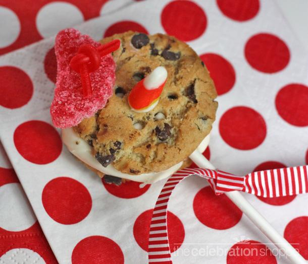 Chocolate chip cookie snowman wl