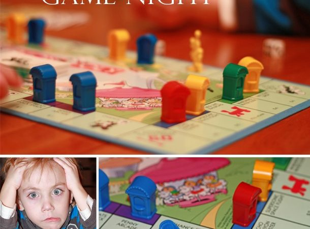 Family game night with jr monopoly