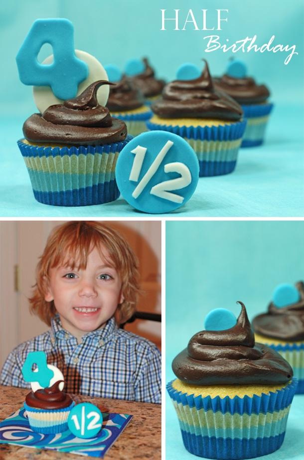 The celebration shoppe half birthday cupcakes