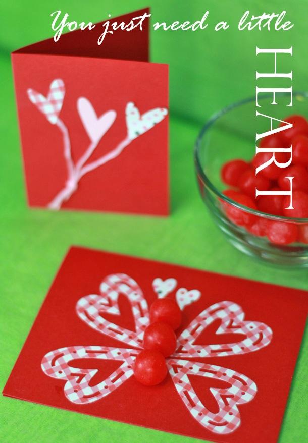 Kid heart balloon butterfly valentine crafts1