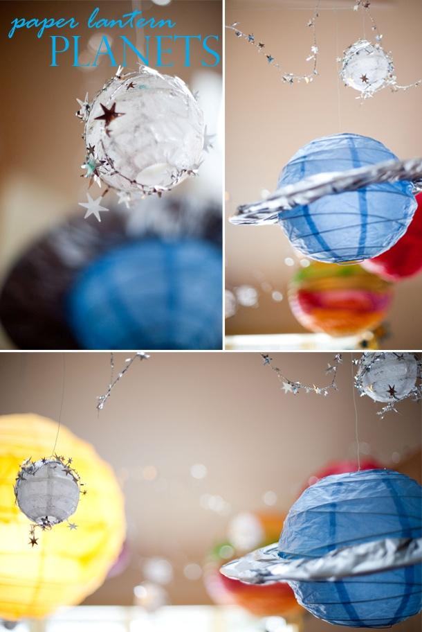 Diy paper lantern planet space birthday craft2