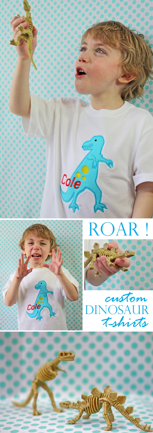 The celebration shoppe custom dinosaur monogram t shirt1