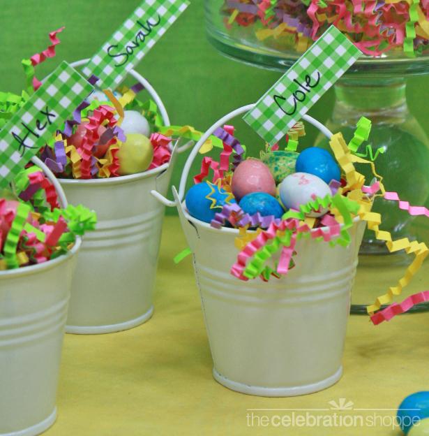 The celebration shoppe mini bucket favor tag wl1