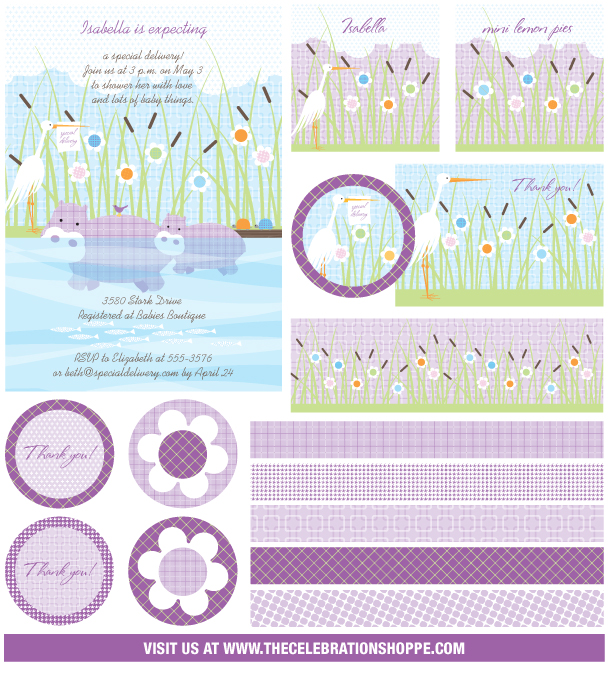 The celebration shoppe special delivery baby shower storyboard