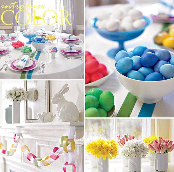 Colorful easter table idea