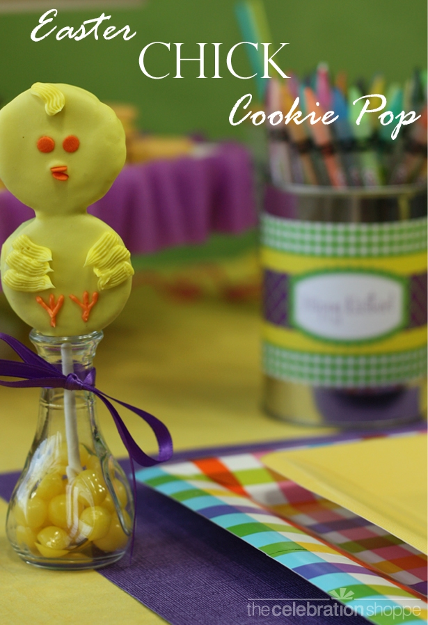The celebration shoppe easter chick cookie pop