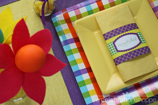 The celebration shoppe easter placesetting
