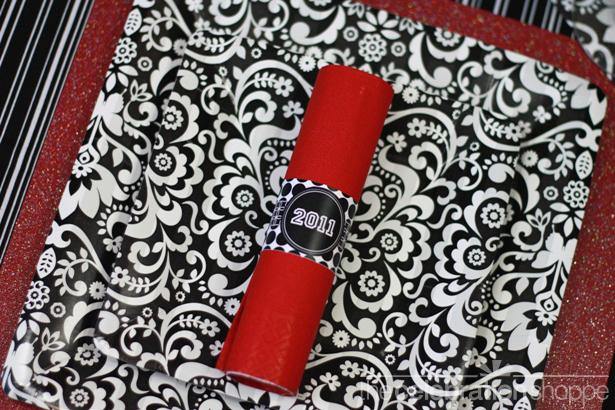 The celebration shoppe graduation 2011 black red napkin ring wl
