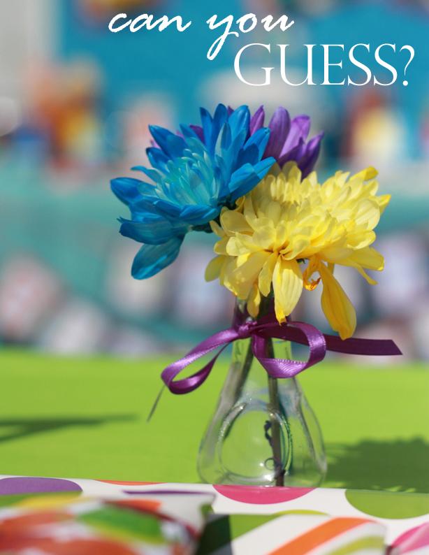 The celebration shoppe party mini flower vase wt