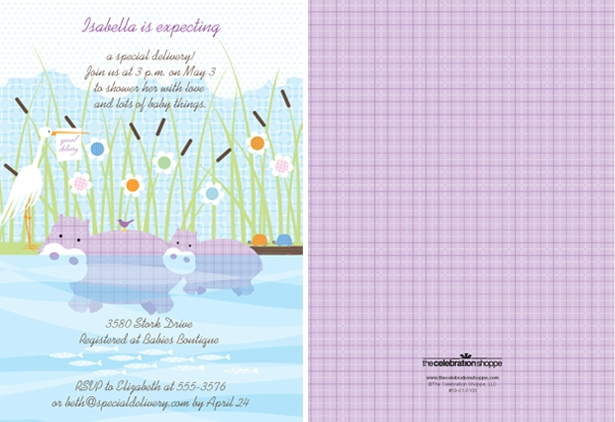 The celebration shoppe special delivery baby shower invitation1