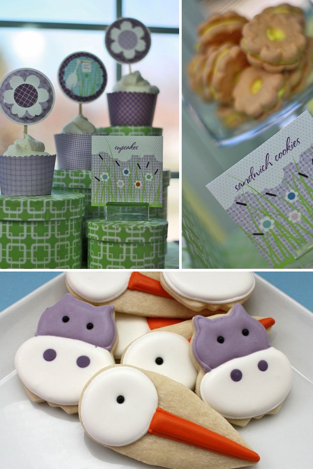 The celebration shoppe special delivery purple baby shower collection 21