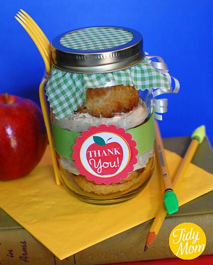 Tidy mom cupcake jar teacher appreciation