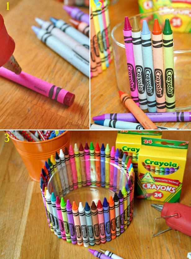 The celebration shoppe art party crayola crayon craft steps1