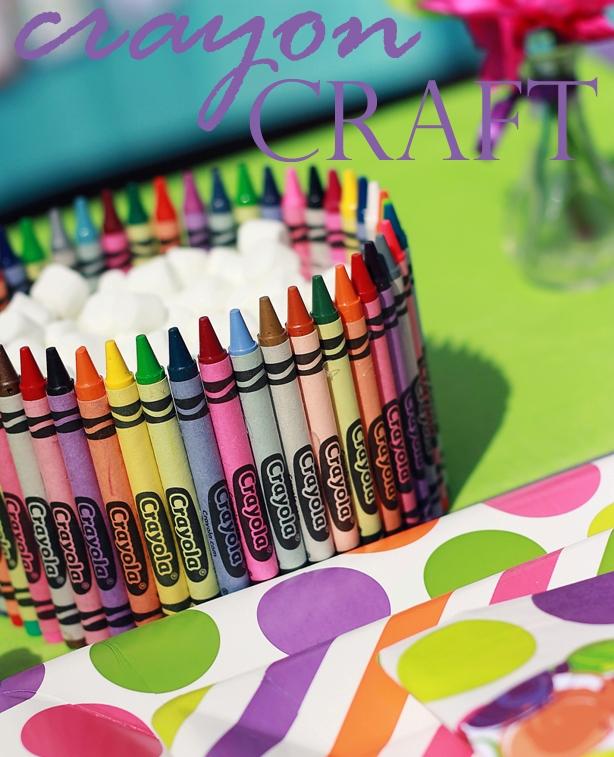 Art Party Decoration Idea Crayola Crayon Centerpiece