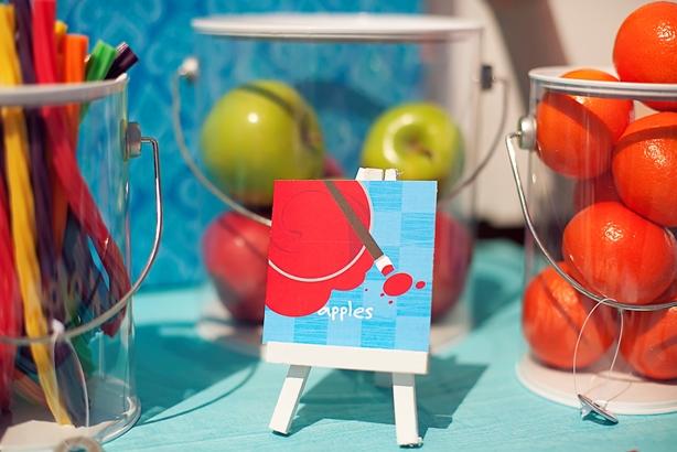 The celebration shoppe art party dessert table apples