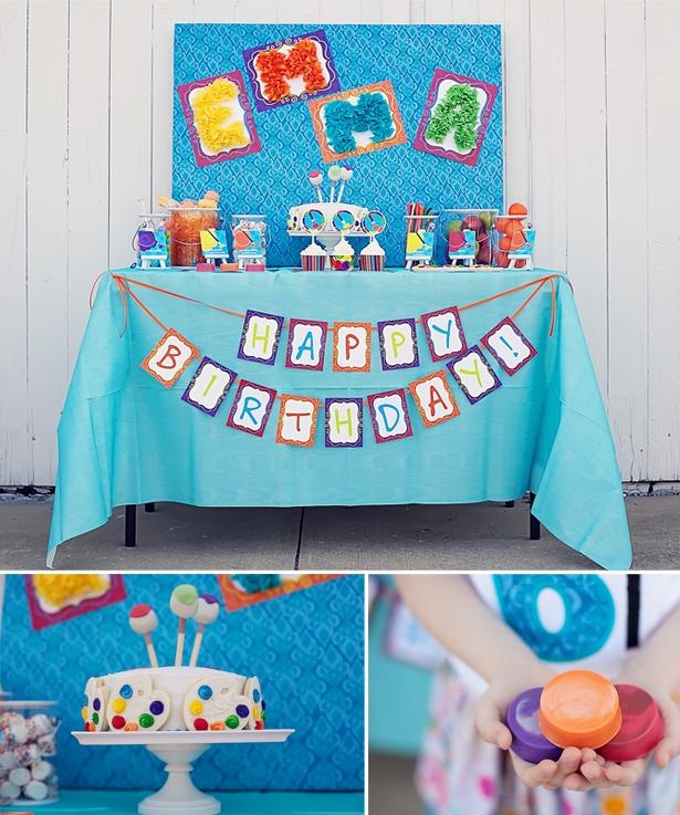 The celebration shoppe art party dessert table w cake pops
