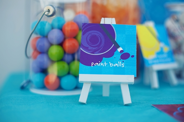 The celebration shoppe art party gumball paint balls