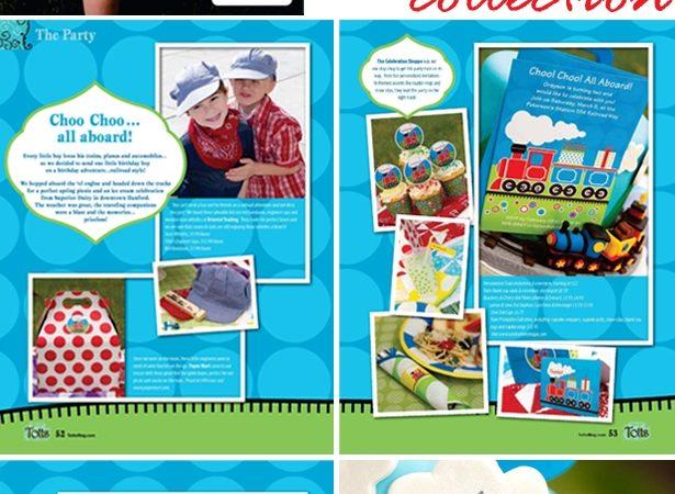 The celebration shoppe train party press totts magazine