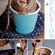 Dark chocolate ice cream cups