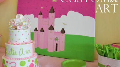 Real princess party art backdrop1