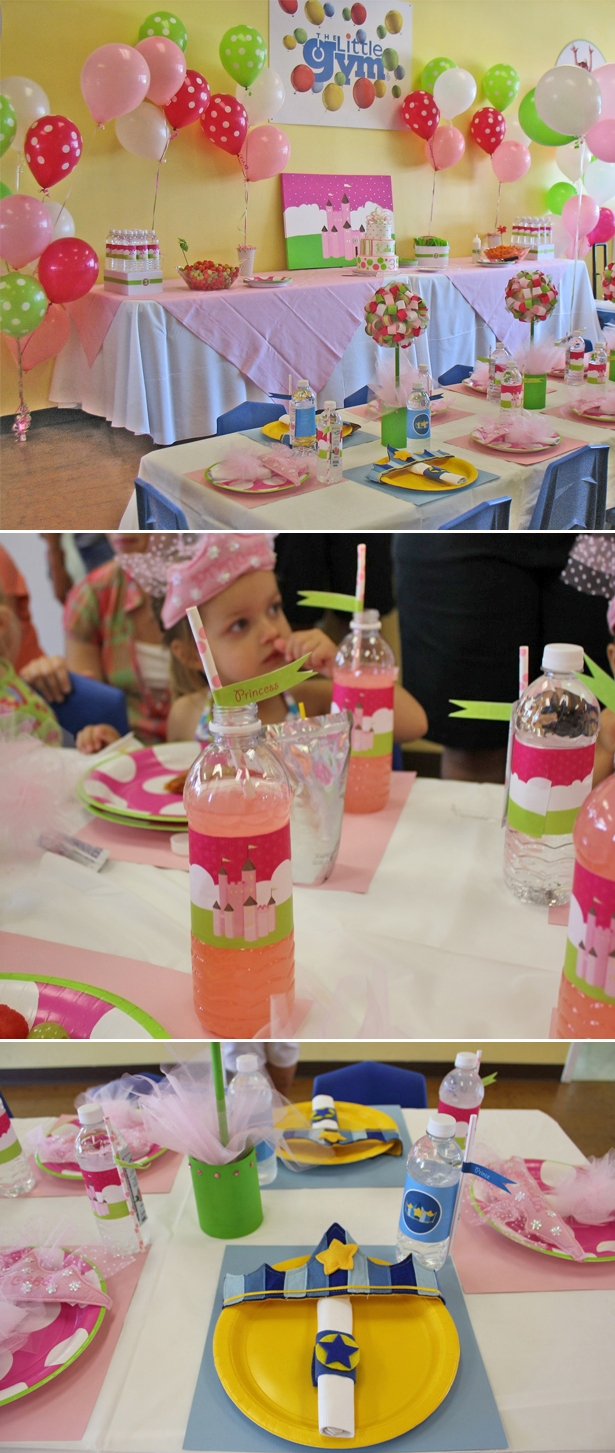 Real princess party with prince placesetting 21