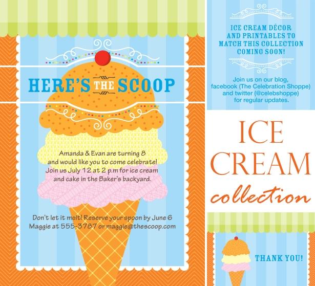 The celebration shoppe ice cream invitation1