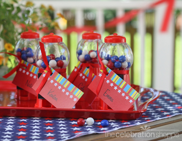 The celebration shoppe july 4 gumball favors wl