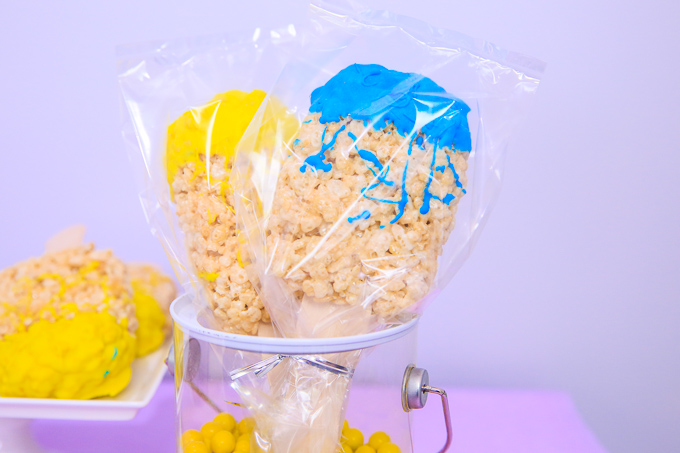 Paint Brush Rice Krispies Treats
