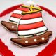 Diy pirate ship cookie