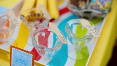 The celebration shoppe ice cream party banana split bar sundae cups