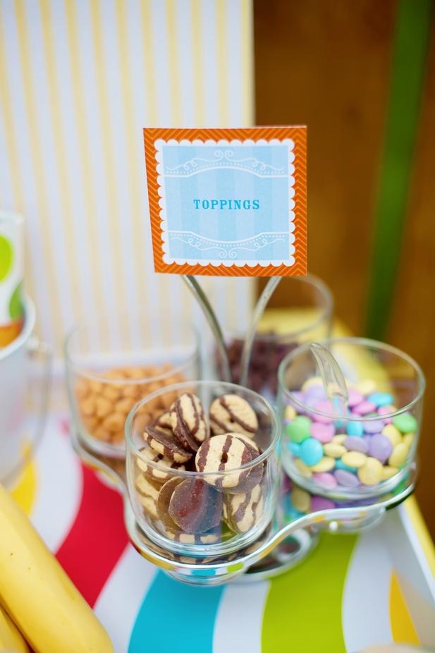 The celebration shoppe ice cream party banana split bar toppings