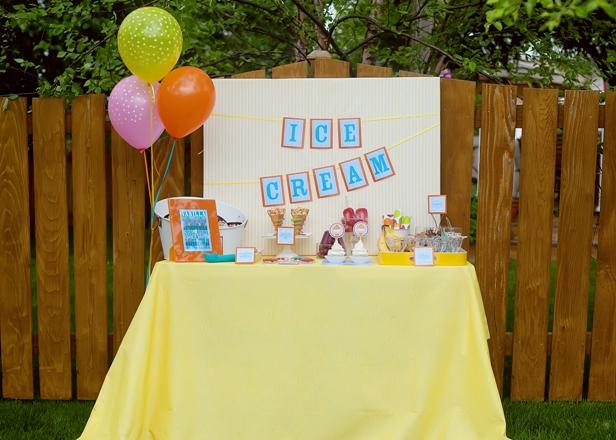 The celebration shoppe ice cream party dessert table 31