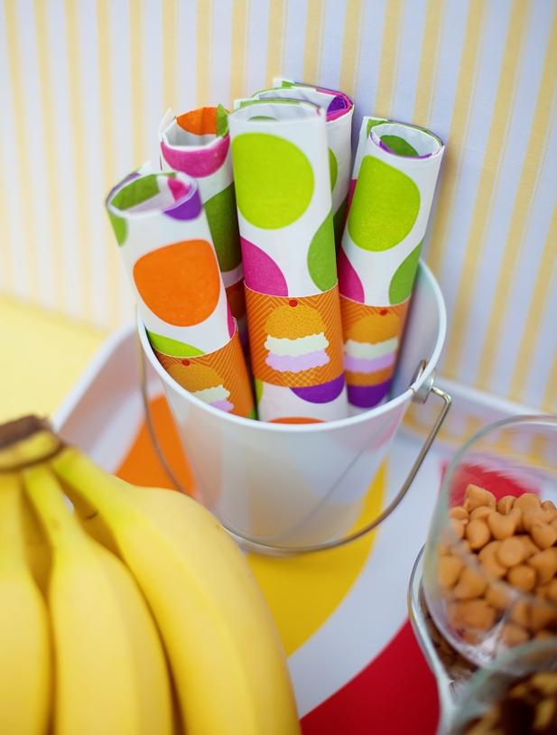 The celebration shoppe ice cream party napkin rings