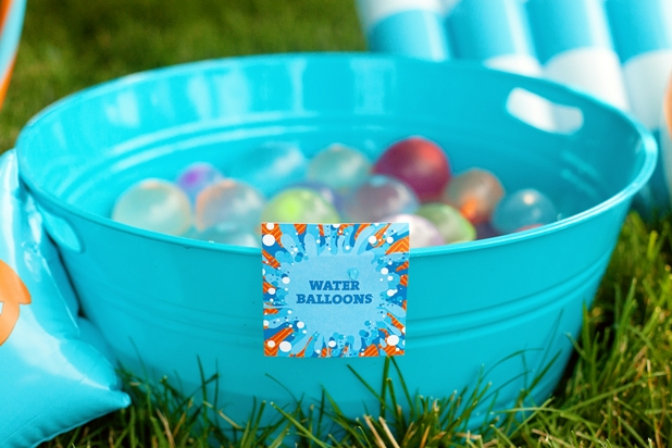 The celebration shoppe pool party water balloon tags