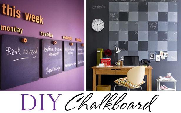 Diy chalkboard calendars