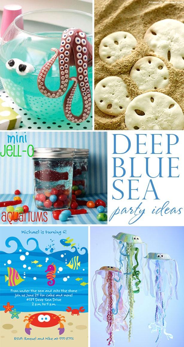 Deep blue sea birthday party ideas