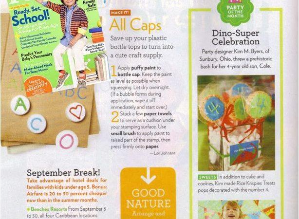 The celebration shoppe dinosaur party in parents magazine2