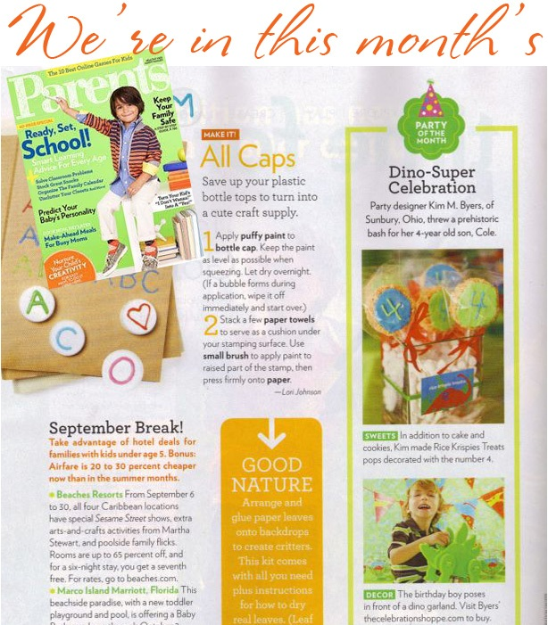 The celebration shoppe dinosaur party in parents magazine2