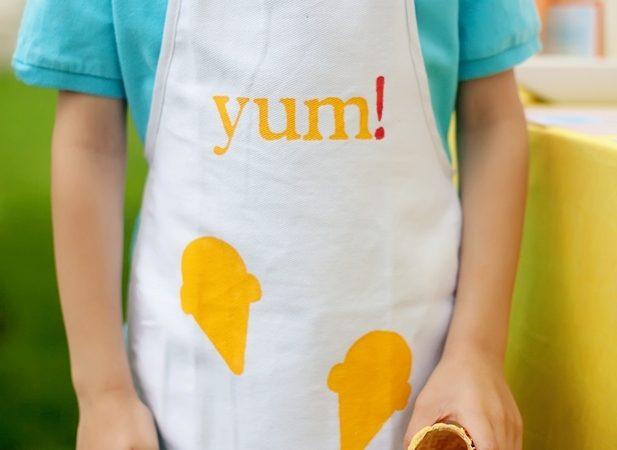 The celebration shoppe ice cream party diy apron craft sm