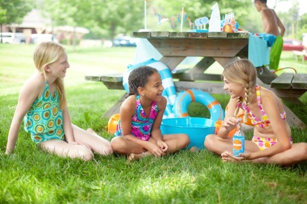The celebration shoppe pool party gabbing