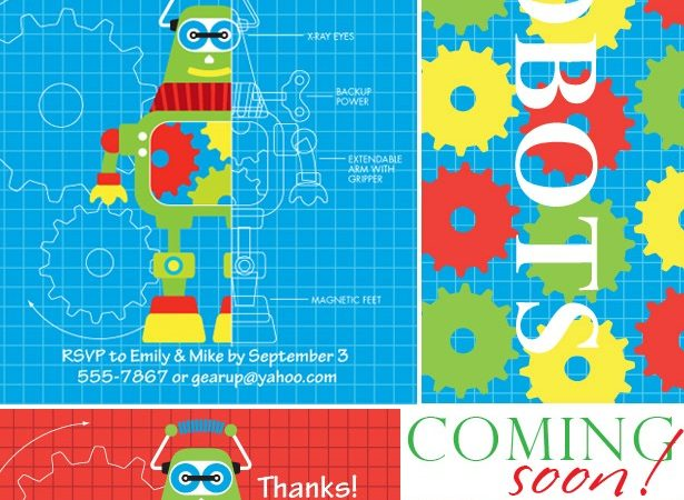 The celebration shoppe robot party collection1