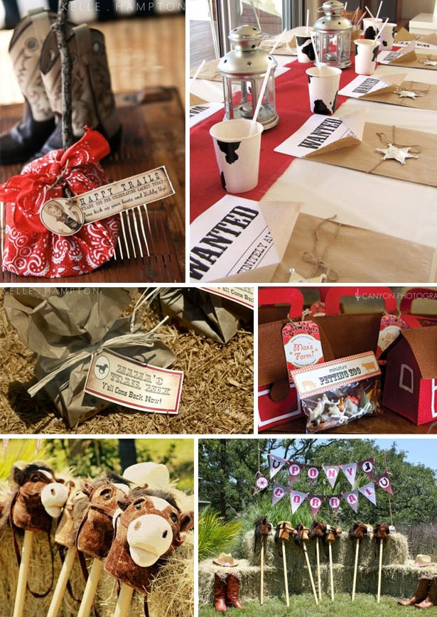 Cowgirl birthday party favor ideas