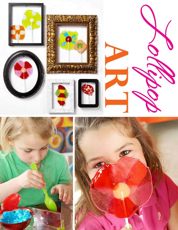 Homemade lollipop art kid craft