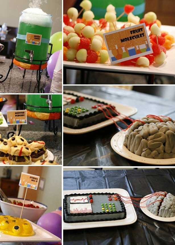 Mad scientist birthday party menu ideas