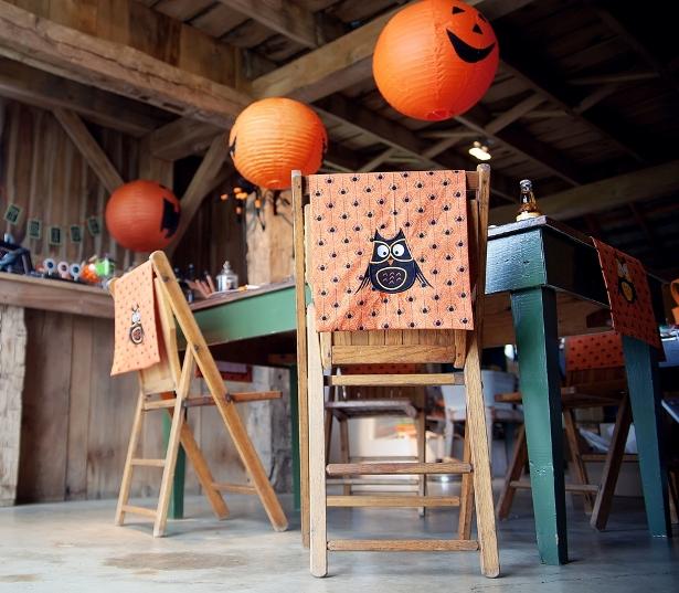 The celebration shoppe halloween owl chair backs 2