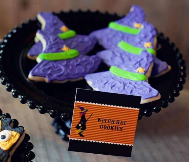 The celebration shoppe halloween witch hat cookies