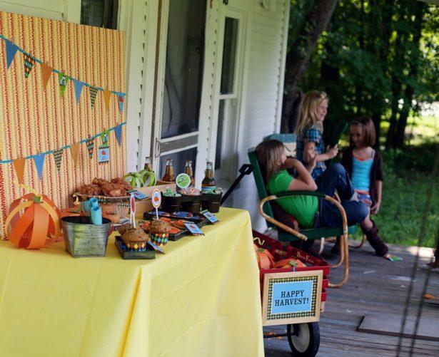The celebration shoppe harvest dessert table