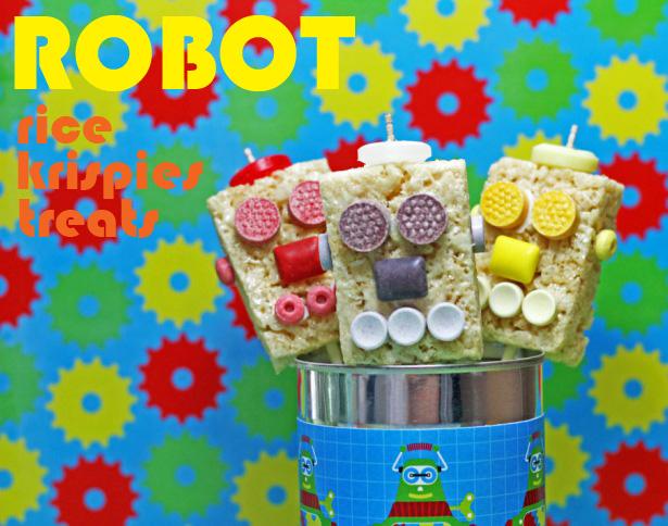 The celebration shoppe robot rice krispies treats wt
