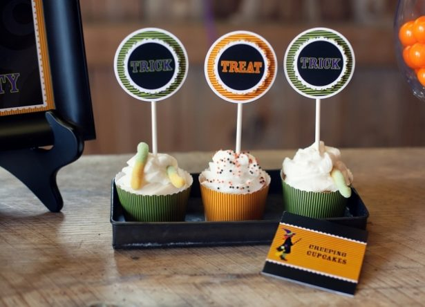 The celebration shoppe trick or treat cupcakes1